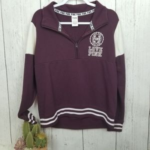 Maroon and white pink vs sweatshirt size small
